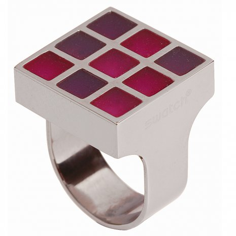 Swatch Bijoux Prismatic Red Ring Anello