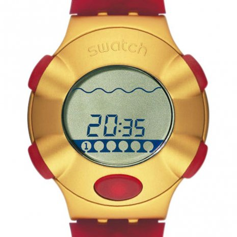 Swatch Golden Virtual Wave orologio
